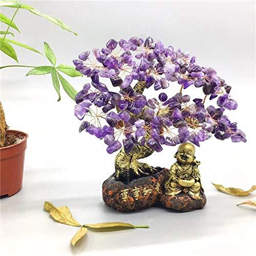 CROSYO Crystal Jade Rich Tree Craft Creativo P Cochino Adornos Muebles Ornamentos en la Sala de Estar Pequeños y medianos árboles Regalos (Color : Dark Gray)
