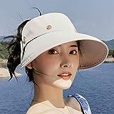 FOTBIMK Sombrero de sol para mujer, universal, lindo, de verano, para exteriores, para protección solar
