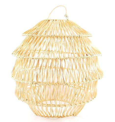 Coco Papaya - Lámpara de techo de fibra vegetal (diámetro 40 cm, fabricación artesanal