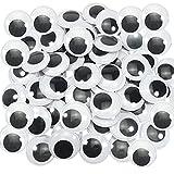 TOAOB 100 Piezas 40 mm Talla Grande Ojos Móviles Blanco Negro de Plástico Redondo Autoadhesivo Utilizados para Manualidades de Scrapbooking Accesorios