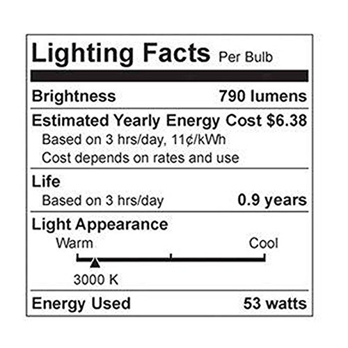 GE Lighting 67773 Reveal 53-Watt, 790-Lumen A19 Light Bulb with Medium Base, 8-Pack