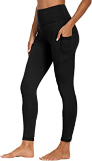 SYRINX High Waist Yoga Pants with Pockets for Women- Tummy Control 4 Way Stretch Workout Running Yoga Leggings
