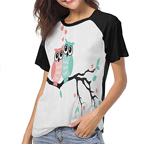 Teal and White Women Short Sleeve Tops Unique Design Slim-fit Teens
