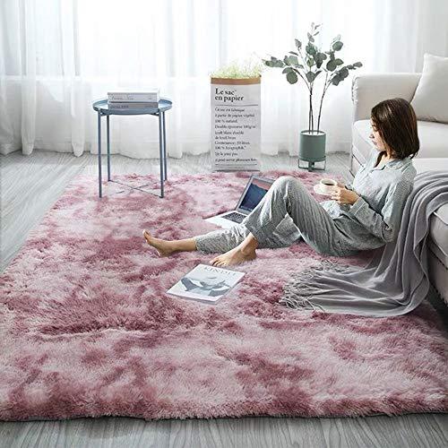 Ewolee - Alfombras ultrasuaves y modernas, grandes, antideslizantes, mullidas, para dormitorio y sala de estar, 160 x 120 cm, color caqui