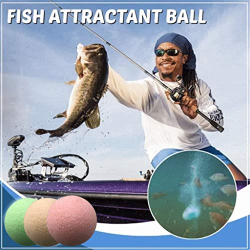 Outdoor Fish Attractant Bait,Fishing Attracting Liquid Spray Ball Bait, Fish Lure Bubble Bomb Boilie,Ball Oxygenated Poly Fish Bait,Alluring Fish Bait Boosters Attractor,Easy to Use (Milk)
