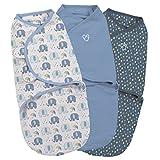 SwaddleMe ** 3er SparPack - Original Swaddle ** Pucksack/Schlafsack für unruhige Babys und Schreibabys (Small - Elephant Splash)