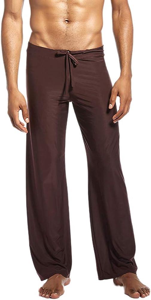 Men's Pajama Pants Sleep Soft Long Classic Pajama Bottoms Solid Drawstring Lounging Pants
