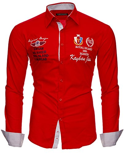 Kayhan Hombre Camisa Monaco Red L