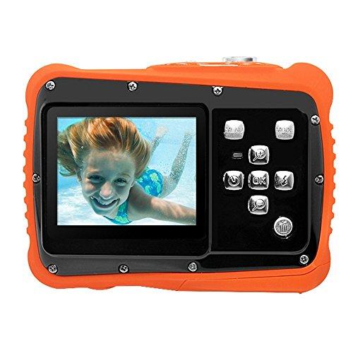 """Kidult Videocamera sportiva subacquea per bambini con schermo LCD a matrice attiva da 2"""", cinepresa HD 720 P 12 MP digitale, impermeabile e anti-polve"""