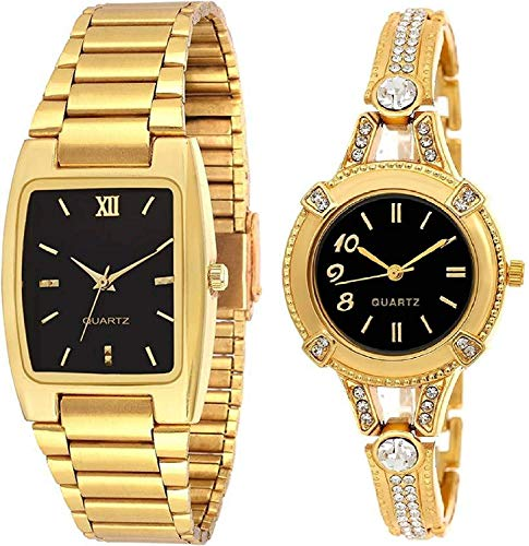 indicare Smartwatch Unisex Watch (Gold Dial Gold Colored Strap)