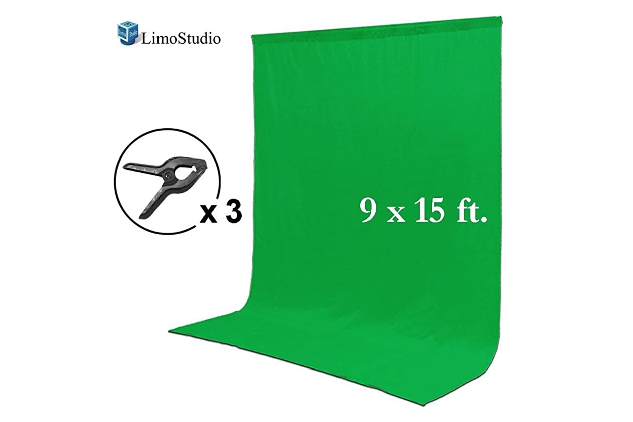 Green chromakey muslin backdrop background screen for photo video studio 3 x backdrop clamp agg1777