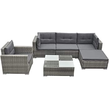vidaXL Garden Lounge Set 17 Pieces Poly