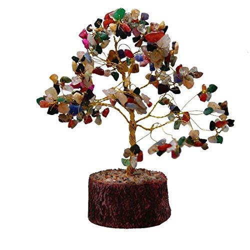Odishabazaar Feng Shui Natural Healing Crystals Bonsai Tree All Natural Gemstone Tree ~ Money Tree Featuring Healing Stones. (obt-15)