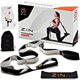 ZIN Hamstring Stretcher Exercise for Yoga. Stretch Strap for Hamstring Stretcher.Yoga Strap for Hamstring.Resistance Band Included