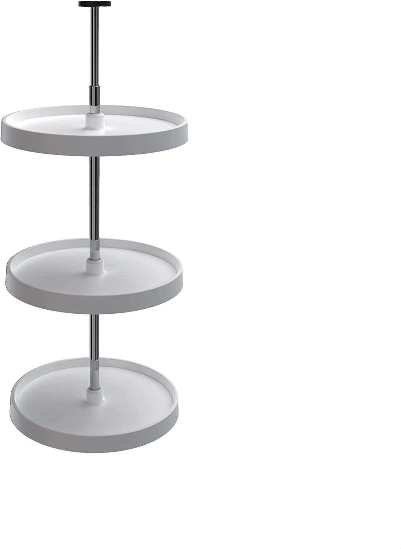 Rev-A-Shelf White 18 Polymer Popular Full Stand sale 3-Shelf Lazy Susans Cir
