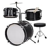 AW 3pcs Junior Kid Children Drum Set Kit Sticks...