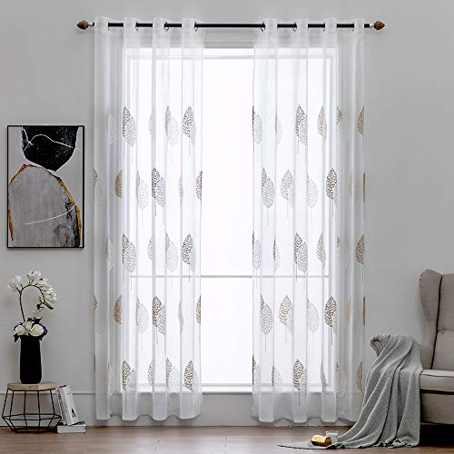 cortinas salon translucidas marron un panel