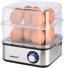 Korona 25303 Mini cuiseur à vapeur en acier inoxydable et cuiseur d'oeufs | Petit cuiseur à vapeur pour légumes | Cuiseur ...