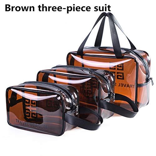 6P6 Net Red Cosmetic Bag Ins Wind Super Portable Femme Voyage Feu Grande Capacité De Lavage Transparent Sac Étanche Boîte De Rangement Sac,B1+b2+b3