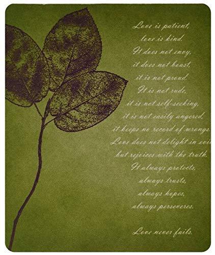 Rote Blätter Inspirierende Liebe ist geduldig Liebe ist freundliche Bibel Vers Gaming Mouse Pad Mousepad Mat