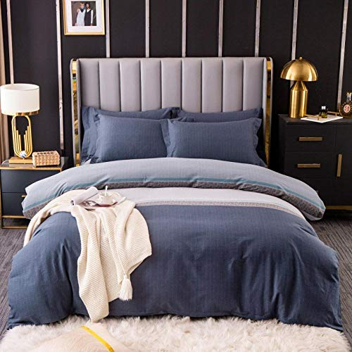 xingshen Four-piece cotton brushed four-piece cotton thick bedding quilt cover sheet four-piece twill-Wales_1.8m four-piece suit (2.0m duvet cover)