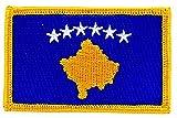 Aufnäher zum Aufbügeln, bestickt mit der Flagge des Kosovo