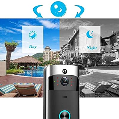 Dethler Wireless Remote Monitoring Real-Time Two-Way Talk Video Doorbell Remote Home Monitoring Systems