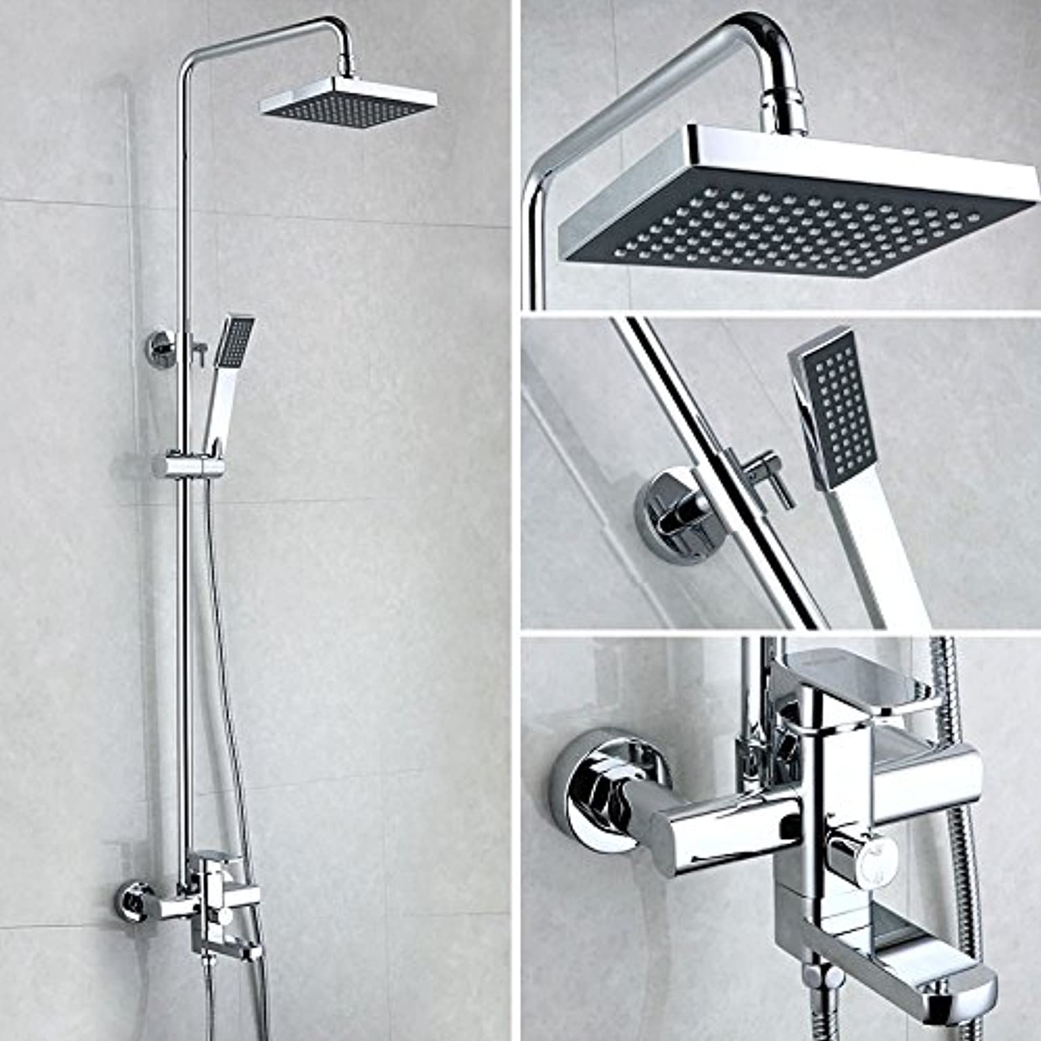 Lalaky Taps Faucet Kitchen Mixer Sink Waterfall Bathroom Mixer Basin Mixer Tap for Kitchen Bathroom and Washroom Square Hot and Cold Copper