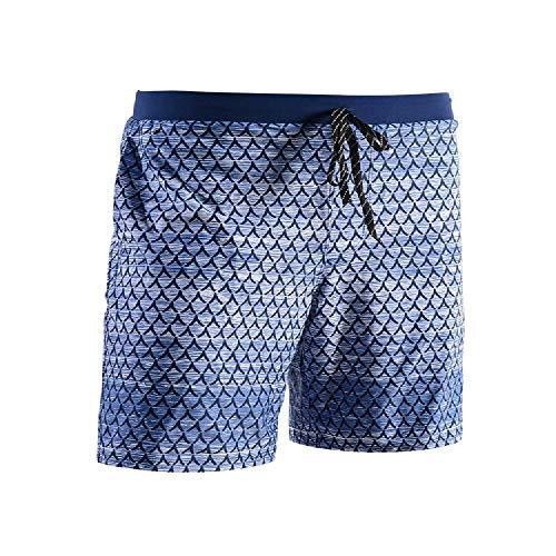 Traje de baño para hombre, esquinas planas, cómodo, ajustado, colorido, sexy playa, aguas termales, natación, nuevos trajes de baño Panal azul 3XL
