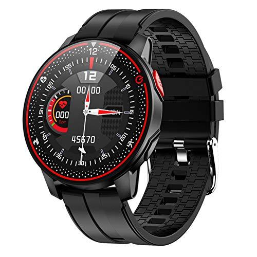 LXZ Inteligente Reloj IP68 Impermeable del Deporte De Fitness Pulsera Monitor De Ritmo Cardíaco Hombres Mujeres Bluetooth 5.0 Smartwatch para Android iOS R18,B