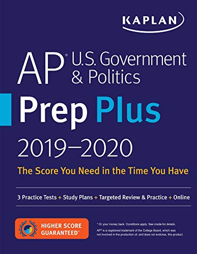 AP U.S. Government & Politics Prep Plus 2019-2020: 3 Practice Tests + Study...