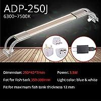 水槽ライト アクアリウムはアクアリウムのための魚飼育用の水槽ランプのためのアクアリウム7500Kの超薄いアルミ合金ライトのための照明を導きました (Color : ADP 250J)