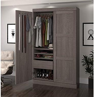 Atlin Designs Pullout Armoire in Bark Gray