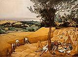 JH Lacrocon Pieter Bruegel el Viejo - Las Cosechadoras Reproducción Cuadro sobre Lienzo Enrollado 120X80 cm - Pinturas Agrícola Impresións Decoración Muro