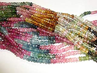 """Jewel Beads 50% Off 14"""" inch Full Strand 3.5mm, Gorgeous Sparkling Watermelon Tourmaline Faceted Rondelles Code-AUR-62073"""