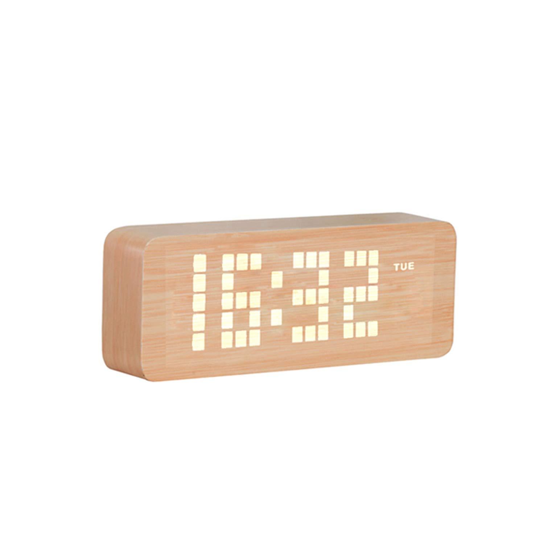 TFA Reloj Despertador Digital LED Rojo de diseño: Amazon.es: Hogar