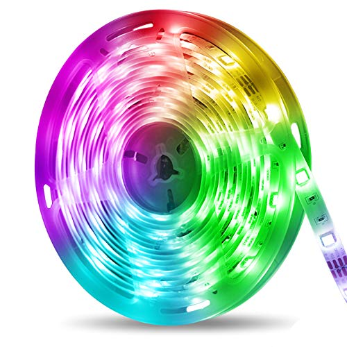 otumixx LED Strip 5M, Bluetooth RGB LED Streifen Farbwechsel Flexibel 150 LED Lichterkette mit APP Steuerung Sync zur Musik, Wasserdicht IP65, für Zuhause Schlafzimmer TV Party
