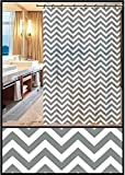 TIB® PVC Printed Checkered Design Waterproof Shower Curtain for Bathroom, 6 Feet Curtain with 12...