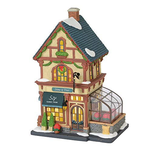 Department 56 Christmas in The City Village Stems and Vines Garden House Lit Building, 8.75', Multicolor