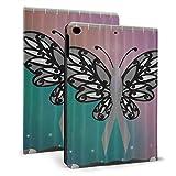 Schutzhülle für iPad Air 24,6 cm (9,7 Zoll), ultradünn, mit Standfunktion, Schwarz / Weiß