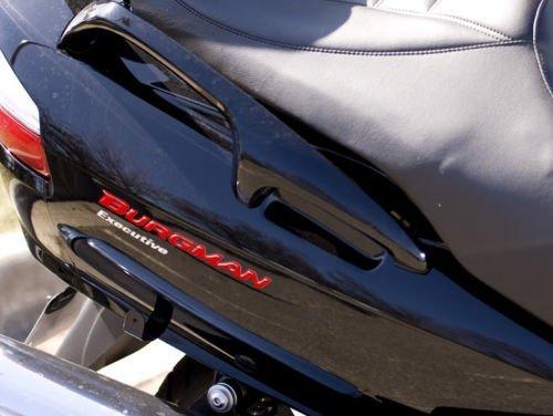 2 Adhesivos Resina 3D Par Letras Burgman 250-400-650 per Scooter Suzuki New - Rojo