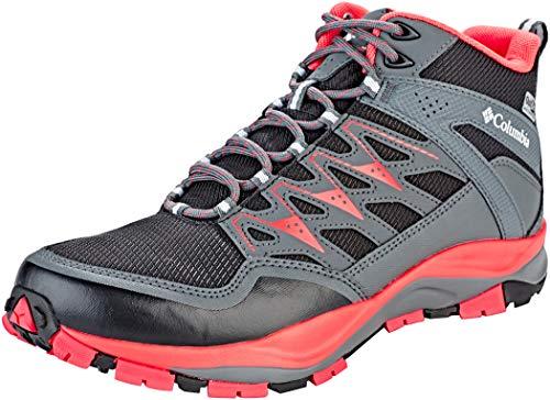 Columbia Damen Wayfinder Mid Outdry Trekking- & Wanderstiefel, schwarz (black, red coral), 40 EU.5