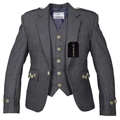 Chaqueta y chaleco Argyll Gris Pure Blazer Wool Premium Tailoring