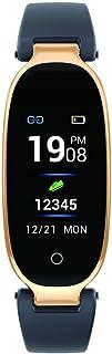 Lorenlli - Pulsera Deportiva con Bluetooth, pulsómetro, rastreador de Fitness, podómetro