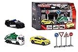 Majorette - Creatix Set de ciudad con diorama, incluye 3 vehículos y accesorios, compatible con otros sets Creatix (Majorette 2058594)