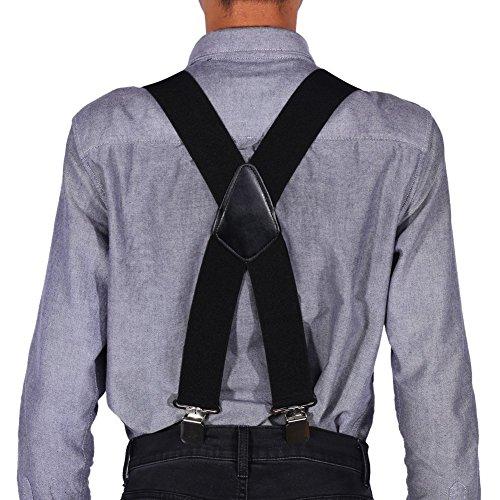 Tirantes anchos elásticos para hombre de los 50MM de las tirantes X forma los apoyos elásticos ajustables del pantalón con los clips del metal