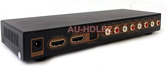 AllAboutAdapters HDMI LPCM 7.1 to Analog Surround Sound Audio Decoder- 4K Version