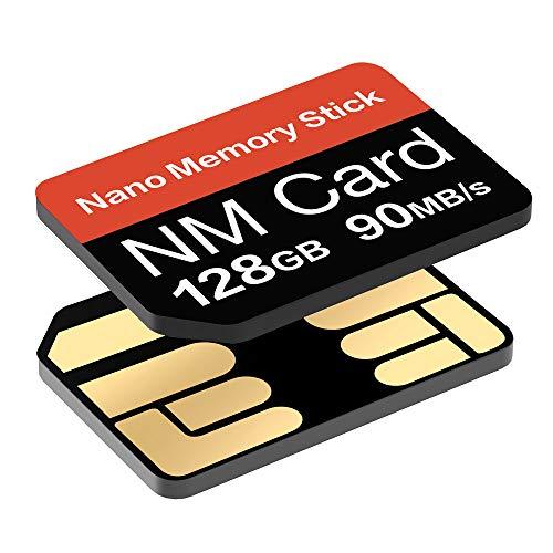 YAOMAISI NM-Karte 128GB 90MB/S Nano-Speicherkarte Nano SD-Karte Compact Flash-Karte, nur für Huawei P30P30pro und Mate20 Series Geeignet, 128GB NM Card