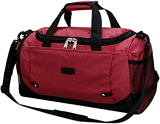 Wultia - Large Capacity Fashion Travel Bag for Man Women Weekend Bag Big Capacity Bag Travel Carry on Luggage Bags Overnight #G8 Wine