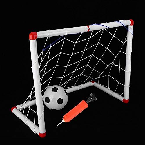 Jacksking Red de Poste de portería de fútbol de minijuegos Deportivos, porterías de fútbol, práctica para Exteriores en Interiores